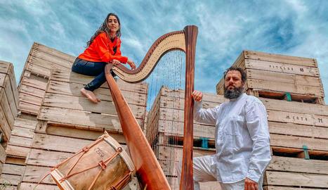 Concert d'arpa i percussió el dia 12 a l'Horta de Lleida.