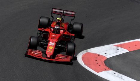 Fernando Alonso va firmar el tercer millor temps ahir a Bakú.