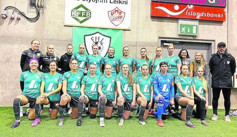 Formació del Fjardabyggd/Höttur/Leiknir en el qual juguen les dos futbolistes del Pardinyes.