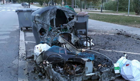 Nit i matinada amb set contenidors cremats a la ciutat de Lleida