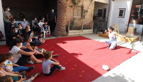 Un dels espectacles que es van representar ahir a Torrelameu.
