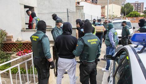 Alguns dels detinguts a Balaguer el passat 25 de maig durant un dels escorcolls.
