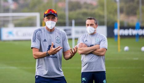 Luis Enrique, durant un entrenament recent de la selecció espanyola.