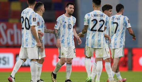 Messi, durant un partit amb la selecció argentina.