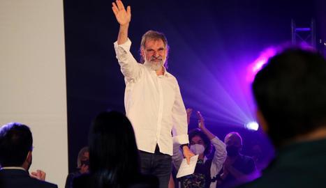 El president d'Òmnium Cultural, Jordi Cuixart, en un acte de l'entitat el mes de maig passat.