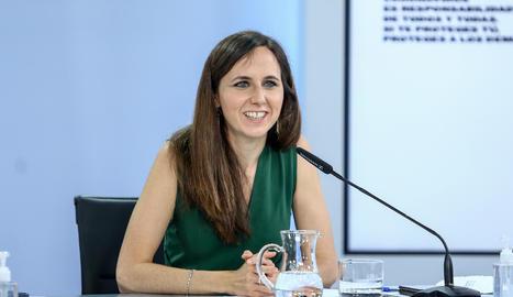 La ministra de Drets Socials i Agenda 2030, Ione Belarra.