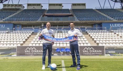 Gabri i Escoda ahir al Camp d'Esports.