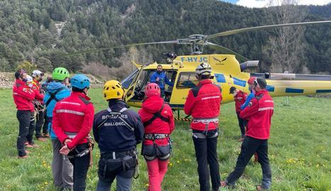Imatge d'arxiu d'un taller de rescat dels Bombers d'Andorra.