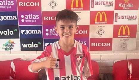 El jugador infantil Àlex Campos.