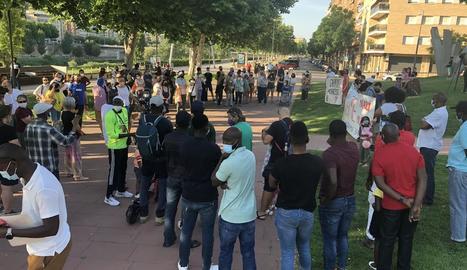 La concentració va tenir lloc ahir a la tarda a la plaça Blas Infante.