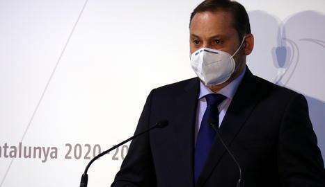 El ministre de Transports, Agenda Urbana i Mobilitat, José Luis Ábalos.