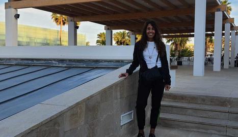 Iolanda Pardo, en una de les estades de l'hotel Estival Park.