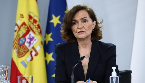 La vicepresidenta primera del govern espanyol, Carmen Calvo.