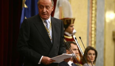 El monarca emèrit en un dels últims discursos al Congrés.