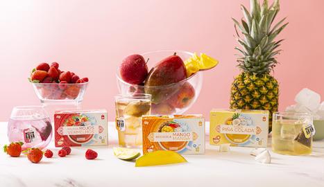 Les infusions fredes de fruites vermelles, de roibos i mango i de pinya colada d'Hacendado