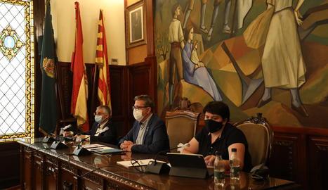 Un moment del ple de la Diputació de Lleida.