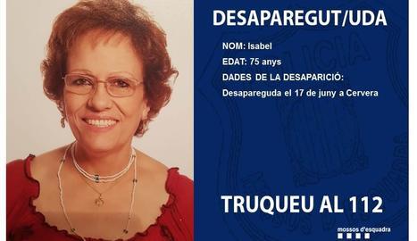 Isabel, la dona desapareguda.