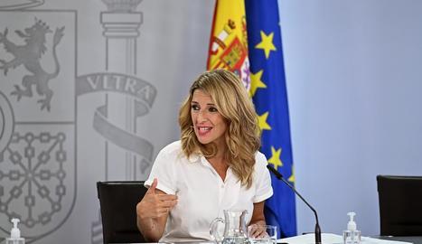 Imatge d'arxiu de la ministra de Treball, Yolanda Díaz.