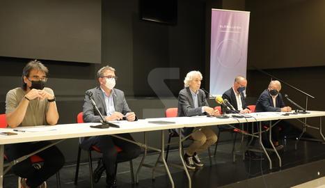 La roda de premsa de la presentació del nou projecte de GlobaLleida.