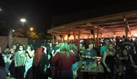 L'ambient de Biloba dissabte a la nit.