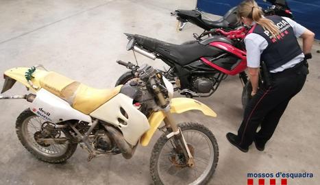 Les motocicletes robades.