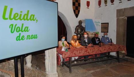 Presentació de la nova campanya turística del Patronat de Turisme al Castell de Montsonís.