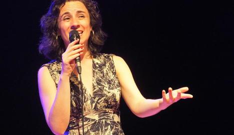 La portuguesa Sofia Ribeiro, el passat dia 12 a l'Espai Orfeó.