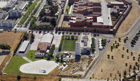 Vista aèria del parc de Bombers de Lleida.
