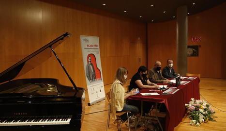 Presentació ahir a l'Auditori del concurs Ricard Viñes.