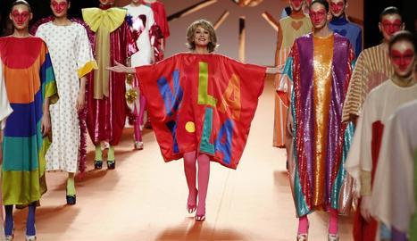 Mila Ximénez, a la desfilada de la Mercedes-Benz Fashion Week.