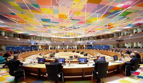 Pla general de la reunió del Consell Europeu feta ahir a Brussel·les.