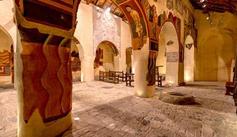 La visita virtual sobrevola Sant Climent de Taüll gràcies a imatges captades amb drons.