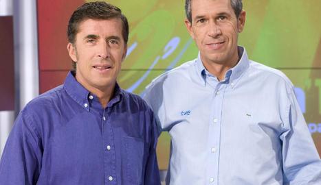 Perico Delgado i Carlos de Andrés.