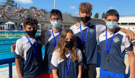 Els medallistes del CN Lleida en aquest campionat.