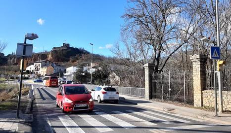 La passarel·la quedarà instal·lada de forma paral·lela a l'N-260.