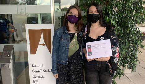 Esther Riba i Andrea Castañeda Alennikova, a la UAB.