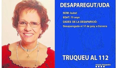 Isabel, de 75 anys.