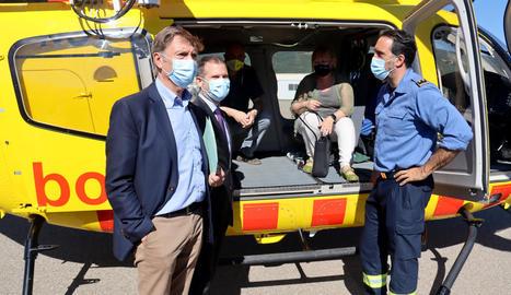 El nou helicòpter de rescat medicalitzat del Pirineu, estrenat fa gairebé un mes, ja ha fet mig centenar d'actuacions