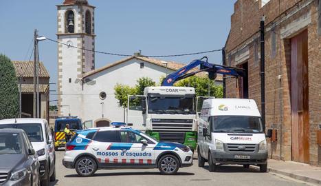Imatge de l'accident, a Vila-sana