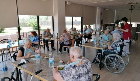 Imatge del centre de dia de la Residència per a la Gent Gran d'Almacelles, que va reobrir ahir.