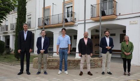 Albiol, Palau, Pérez, Fernández, Isaac Claver (Montsó) i Carmen Costa (Fraga).