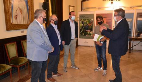 Saltó i Talarn, a la firma del conveni ahir a la Diputació.