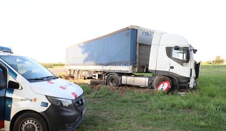 Estat en el qual va quedar el camió després del sinistre.
