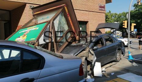 Espectacular accident a Pardinyes