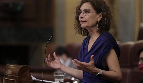 La ministra d'Hisenda i Funció Pública, María Jesús Montero.