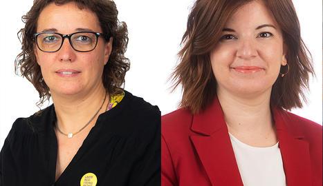 La diputada al Congrés, Inés Granollers i la senadora Sara Bailac.