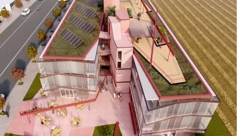 Imatge virtual de com seria aquest nou alberg de Pardinyes.