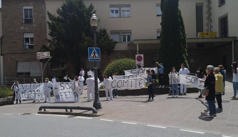 Imatge d'arxiu d'una de les protestes dels treballadors.