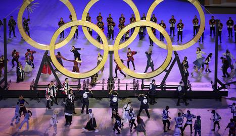 Els anells olímpics.