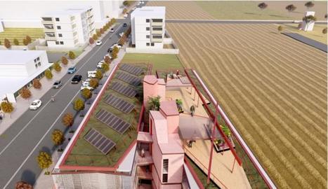 Imatge virtual del projecte del nou alberg de Pardinyes.